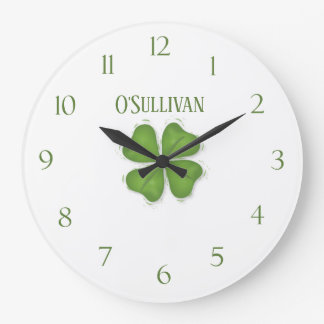 Shamrock Personalized Wall Clock