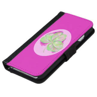 Shamrock Pink iPhone 6 Wallet Case