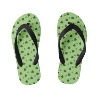 Shamrock Print Kid's Thongs