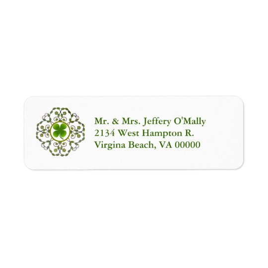 Shamrock Return Address Labels
