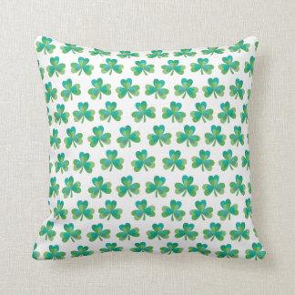 Shamrock Reversible Throw Pillow
