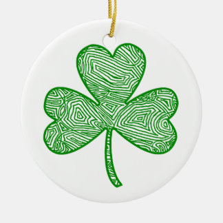 Shamrock Round Ceramic Decoration