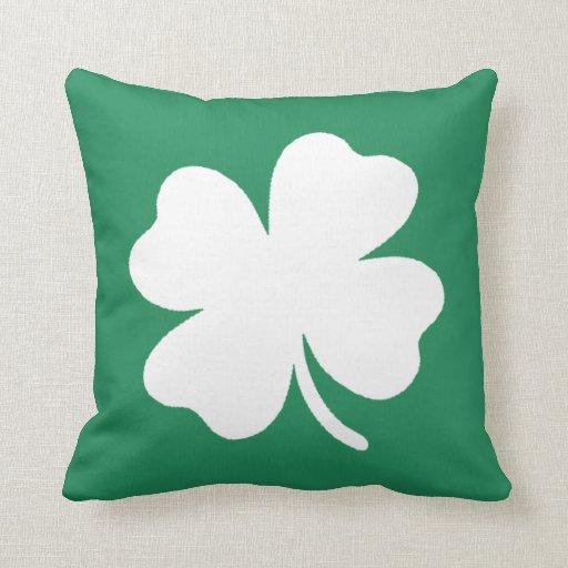 Shamrock  Saint Patricks Day Ireland Pillows