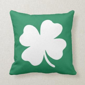 Shamrock  Saint Patricks Day Ireland Throw Cushion