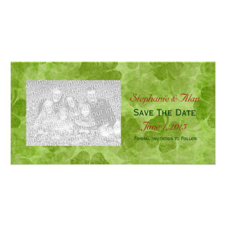 Shamrock Save The Date PhotoCards Photo Greeting Card