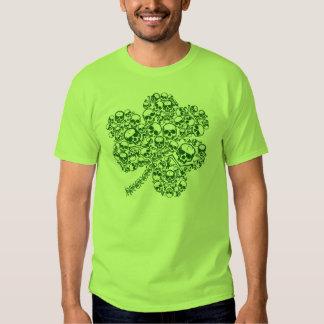 Shamrock Skulls Irish Goth T-shirt