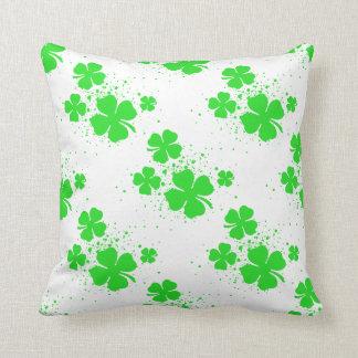 Shamrock Splatter Throw Pillow