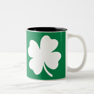 Shamrock  St Patricks Day Ireland Two-Tone Coffee Mug