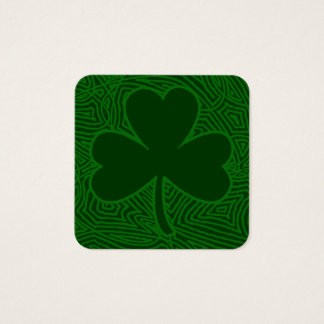 Shamrock St. Patrick's Day Square Business Card