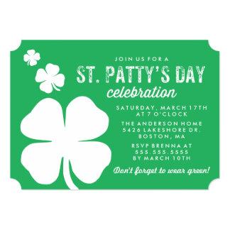 Shamrock St. Patty's Day Celebration 13 Cm X 18 Cm Invitation Card
