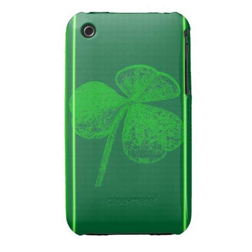 Shamrock Stamp Case-Mate iPhone 3 Cases