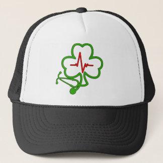SHAMROCK STETHOSCOPE WITH HEARTBEAT TRUCKER HAT