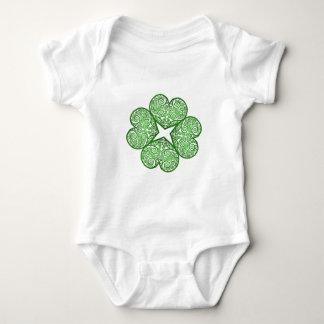 Shamrock Swirls Baby Bodysuit