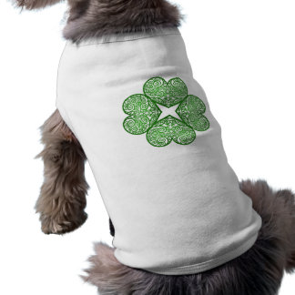 Shamrock Swirls Sleeveless Dog Shirt