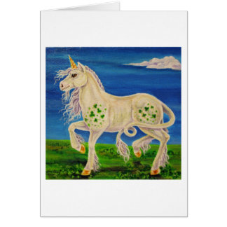 Shamrock the Irish Unicorn Card