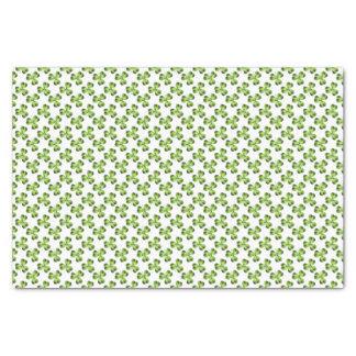 """Shamrock Three Leaf Clover Graphic 10"""" X 15"""" Tissue Paper"""