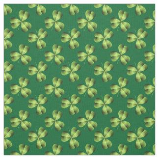 Shamrock Three Leaf Clover Graphic Fabric