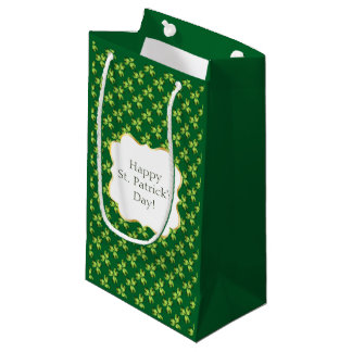 Shamrock Three Leaf Clover Graphic Small Gift Bag