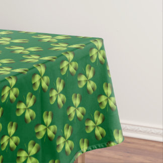 Shamrock Three Leaf Clover Graphic Tablecloth