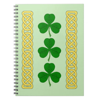 Shamrock Trio and Knotwork Bands Notebooks