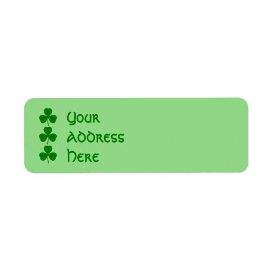 Shamrock Trio Return Address Label
