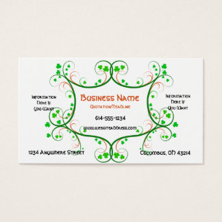 Shamrock Vines Irish/Celtic Business Cards