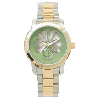 Shamrock Watch! Irish Watch! Add Name! Watch