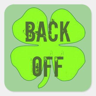 Shamrock Wearing Green Square Sticker