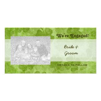 Shamrock We're Engaged Photo Cards