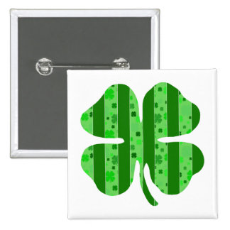 Shamrock with stripes png buttons
