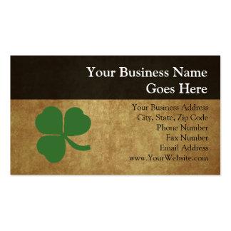 Shamrock with Vintage Gold Business Cards