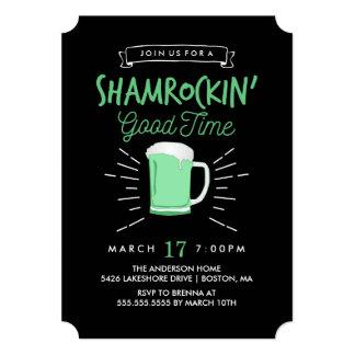 Shamrockin' Good Time St. Patrick's Day Invite