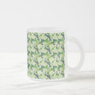 Shamrocks 10 oz Frosted Glass Mug