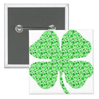 Shamrocks 4 leaf clovers png pinback buttons
