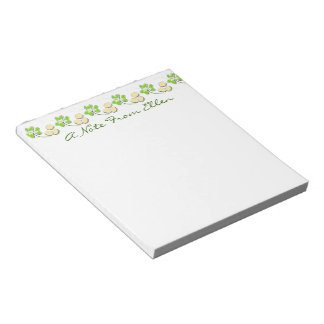 Shamrocks and Gold Coins Notepads