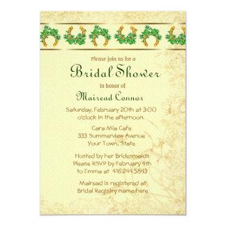 Shamrocks and Gold Irish Bridal Shower Card