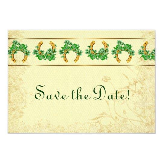 Shamrocks and Gold Irish Save The Date Card