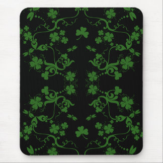 Shamrocks and Swirls Mousepad