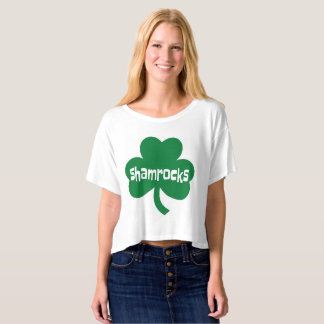 Shamrocks Bella+Canvas Boxy Crop Top T-Shirt