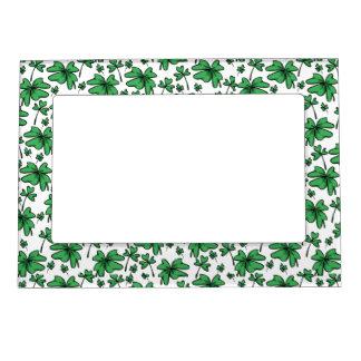 Shamrocks Clover Pattern Magnetic Picture Frame
