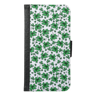 Shamrocks Clover Pattern Samsung Galaxy S6 Wallet Case