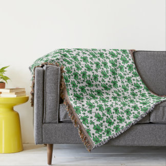 Shamrocks Clover Pattern Throw Blanket