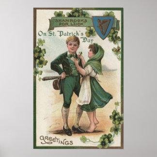 Shamrocks for Luck Poster