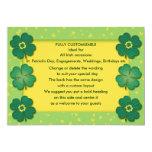 shamrocks irish lucky clover custom 13 cm x 18 cm invitation card