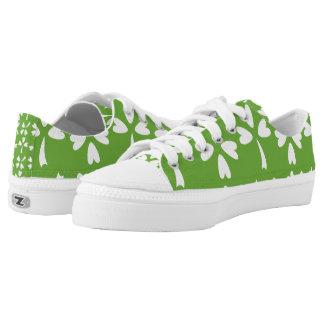 Shamrocks on Light Green.png Printed Shoes