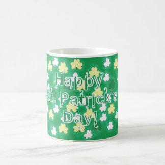 Shamrocks on St. Patrick's Day Basic White Mug
