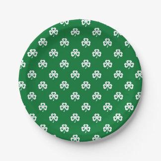 Shamrocks Paper Plate