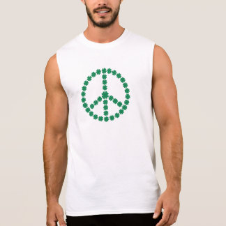 Shamrocks peace sleeveless shirt