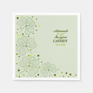 Shamrocks Polka Dots Wedding Paper Napkins Disposable Serviette