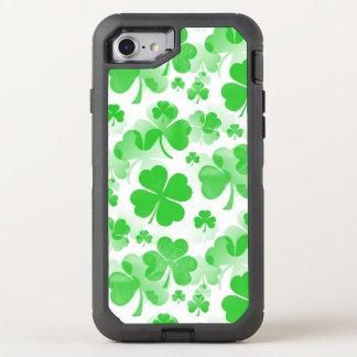 Shamrocks Tattoo seamless pattern + your ideas OtterBox Defender iPhone 7 Case